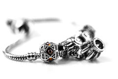 Silver bracelet with stones Stock Images