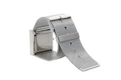 Silver bracelet watch Stock Photo