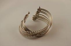 Silver bracelet Royalty Free Stock Photo
