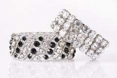 Silver bracelets Stock Images
