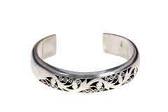 Silver bracelets Stock Image