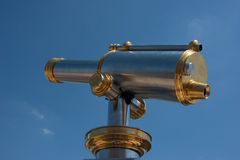 Silver & Brass Telescope Stock Photography