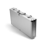 Silver briefcase Royalty Free Stock Photo
