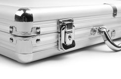 Silver briefcase Royalty Free Stock Image
