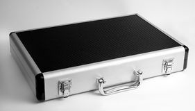 Silver briefcase 2 Stock Photography