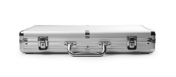 Silver briefcase Royalty Free Stock Photos