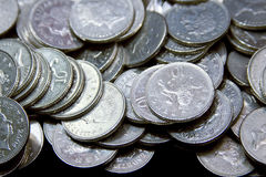 Silver British coinage Stock Images