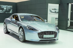 Silver bronze Aston Martin series Rapide S Royalty Free Stock Image