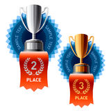 Silver and Bronze awards Royalty Free Stock Images