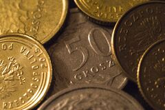Silver and Bronze Coin Royalty Free Stock Images