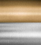 Silver and bronze metal textures royalty free stock image
