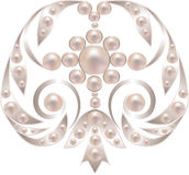 Silver brooch Royalty Free Stock Photo