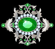 Silver brooch Royalty Free Stock Images