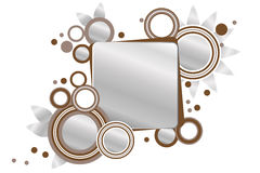 Silver and brown frame with circles. Silver and brown frames with silver, brown and white circles and dots Royalty Free Stock Photo