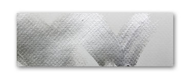 Silver brush stroke paint Royalty Free Stock Photo