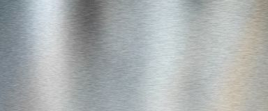 Silver Brushed Metal Texture Royalty Free Stock Images