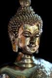 Silver Buddha face Stock Photo