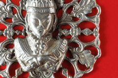 Silver Buddha Pendant Jewel Stock Photo