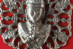 Silver Buddha Pendant Jewel Royalty Free Stock Images