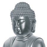 Silver Buddha statue Royalty Free Stock Photos