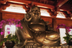 Silver Buddha Statue Stock Photography