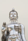 Silver buddha. Statue in temple stock photos