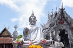 Silver buddha in Thailand. Buddha meditate in Meunsan temple in Chiang mai , Thailand Stock Photos