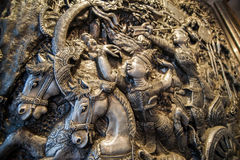 Silver buddhism sculpture,chiang mai,Thailand Stock Image