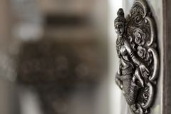 Silver buddhism sculpture Stock Photography