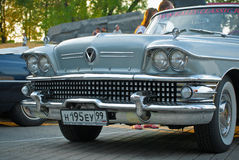 Silver buick front Light Stock Photo