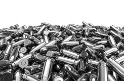 Silver bullets pile Royalty Free Stock Images