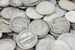 Silver bullion Royalty Free Stock Photos