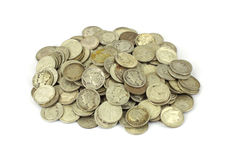 Silver bullion Stock Photos