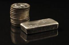 Silver bullion Royalty Free Stock Image