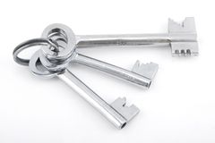 Silver bunch of keys Stock Photo