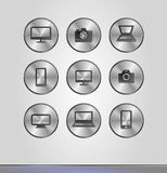 Silver business icons Royalty Free Stock Photography