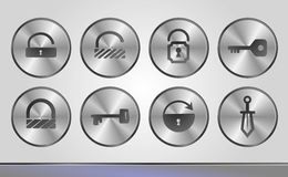 Silver business icons Stock Images