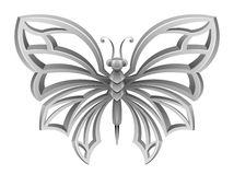 Free Silver Butterfly Royalty Free Stock Image - 46350756