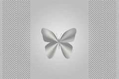 Silver butterfly laptop cover Stock Photo