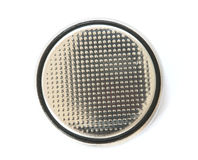 Silver button cell battery Royalty Free Stock Photo