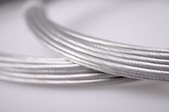 Silver cables Royalty Free Stock Photo