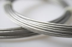 Silver cables Stock Image