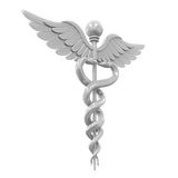 Silver Caduceus Medical Symbol Stock Images