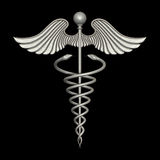 Silver Caduceus Royalty Free Stock Photo