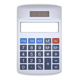 Silver calculator Stock Photography