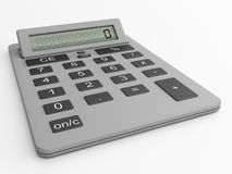Silver calculator Royalty Free Stock Photo