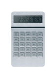 Silver calculator on white background Stock Photography