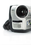Silver camcorder. A small depth of field stock photography
