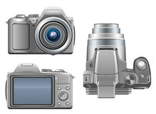 Silver camera Royalty Free Stock Photo