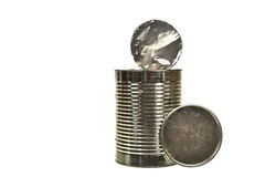 Silver can isolated on a white background Stock Photography